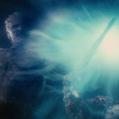 Laufey congela a un Einherjar.
