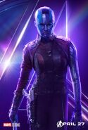 Avengers Infinity War Nebula Poster
