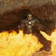 Stark logra salir de la cueva.