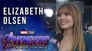Elizabeth Olsen on Scarlet Witch and Vision LIVE at the Avengers Endgame Premiere