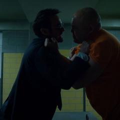 Murdock y Fisk discutiendo.