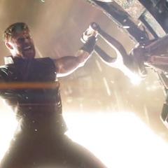 Thor reinicia la fragua.