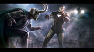 Andyparkart-the-avengers-Iron-Man-v-Loki