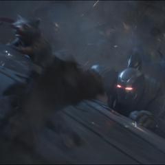Rocket y Rhodes caen después del ataque.