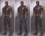 Avengers Infinity War Falcon concept art 3