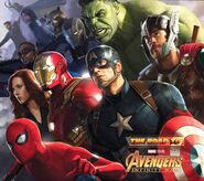 Avengers Road to Infinity War cover art