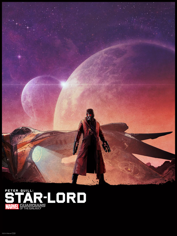 Star Lord Illustrated Poster
