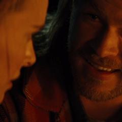 Thor le habla sobre los Nueve Mundos a Foster.