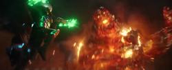 Mysterio vs. Molten Man