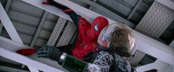 Spider-Man Grabs Mysterio (Upward)