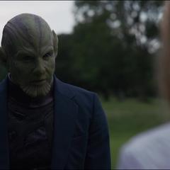 Talos revela a Danvers las verdaderas intenciones de los Kree.