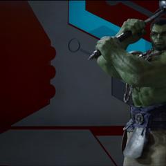 Hulk amenaza con atacar a Thor.
