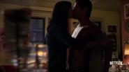 Oscar and Jessica Jones kiss