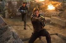 Hawkeye and Star Lord Endgame Still