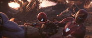 Iron Man & Spider Taking the Gauntlet