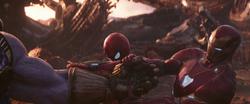 Iron Man & Spider Taking the Gauntlet