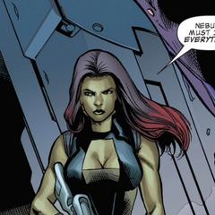 Gamora llega a las tumbas flotantes de Praxius.