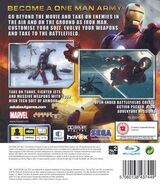 IronMan PS3 UK cover back