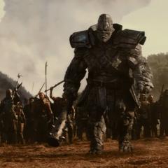 El Merodeador Kronan confronta a Thor.