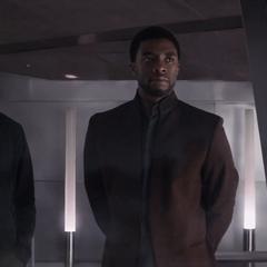 T'Challa le dice a Rogers que está dispuesto a proteger a Barnes.