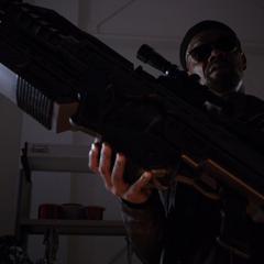 Fury a punto de darle a Coulson un arma nueva.