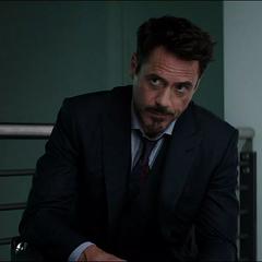 Stark observa a Ross presentando los Acuerdos de Sokovia.