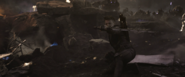 Hawkeye using wristbow
