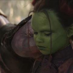 Gamora aprende sobre la filosofía de Thanos.