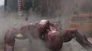 Iron Man Knocked Down