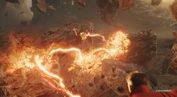 Strange battling Thanos