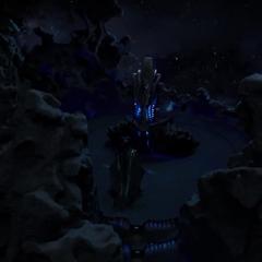 El Otro habla con Thanos acerca de la resistencia de los humanos.