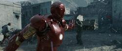 La primera batalla de Iron Man