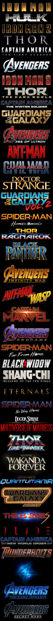 List of Marvel Cinematic Universe films