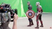 CW BtS Cap and Ant-Man