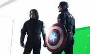 On set Captain America Civil War 1