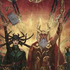 Odín y Hela lideran los Nueve Mundos.