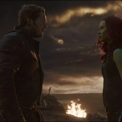 Quill se encuentra con la versión alterna de Gamora.