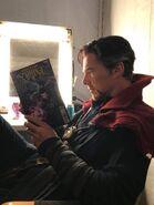Benedict Cumberbatch comic BTS