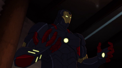 Tony Stark in Mark XVII Armor