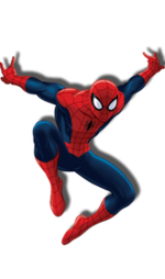 Footer character spiderman