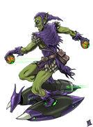 Marvel art jam the green goblin by midnighter-d5jscc8