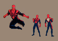 Spider man costume redisegn by domeddi d45mhbo-fullview