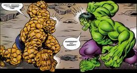 The Incredible Hulk vs The Thing