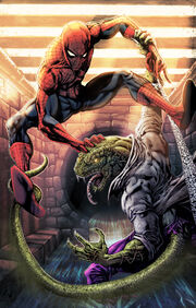 Spiderman lizard rework by comic coloring