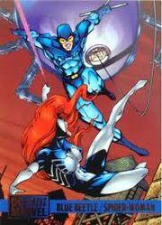 Blue Beetle vs Spider-Woman