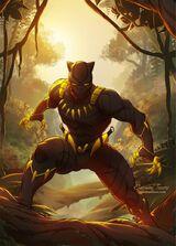 Golder-Vibranium Black Panther Suit Earth-61615
