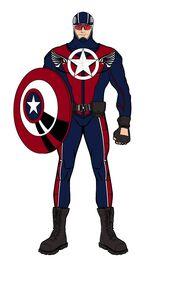 Steven Rogers (in mask)