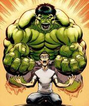 Bruce controlling the Hulk