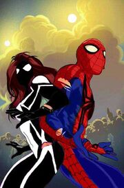 Spider-Girl - Arachne (May Parker) and Spider-Kid (Benjamin Richard Parker) ver closed mask