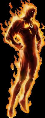 Human Torch Portrait Art Classic